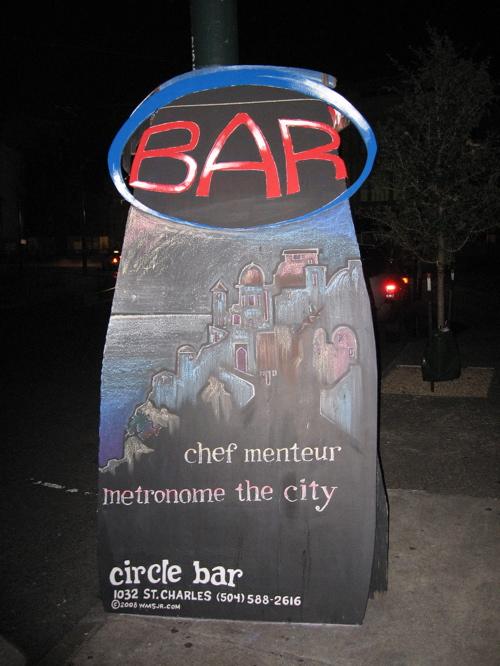 Circle Bar chalk sign